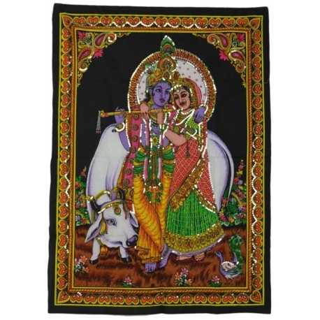 Tapiz Krishna y Radha