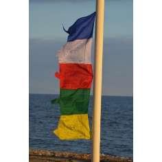 Bandera de oración budista vertical