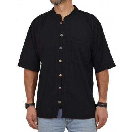 Camisa Kurta Hombre Negra hippie verano