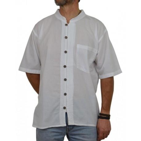 Camisa Kurta Hombre Blanca