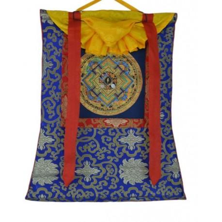 Thangka tibetano con Brocado TK27