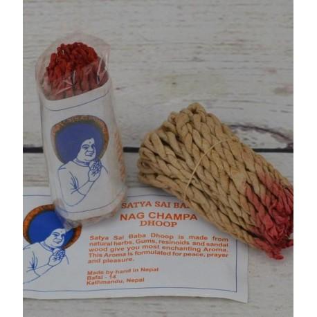 Incienso rope Nag Champa, cienso de cuerda