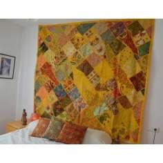 Tapiz patchwork gigante Amarillo