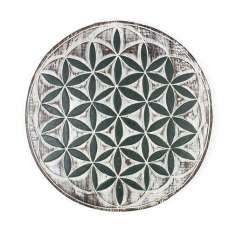 Placa de madera flor de la vida 24 cm Ø