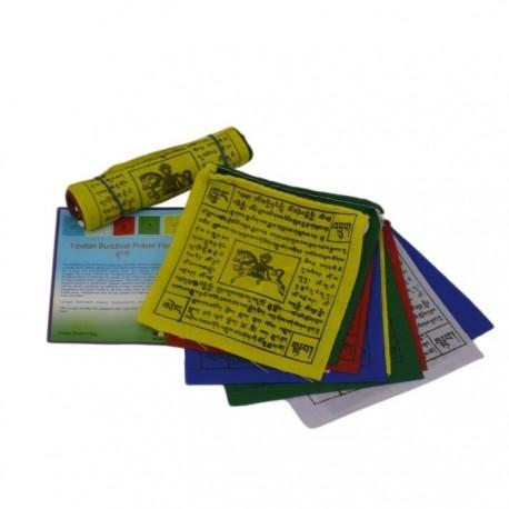 Mini Bandera Tibetana 9 x 9 cm