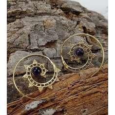 Pendientes espiral con piedra Hipp157