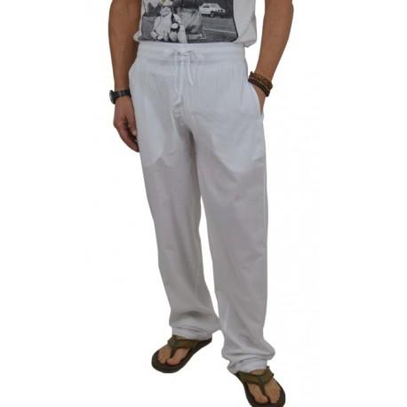 Pantalón largo blanco para verano