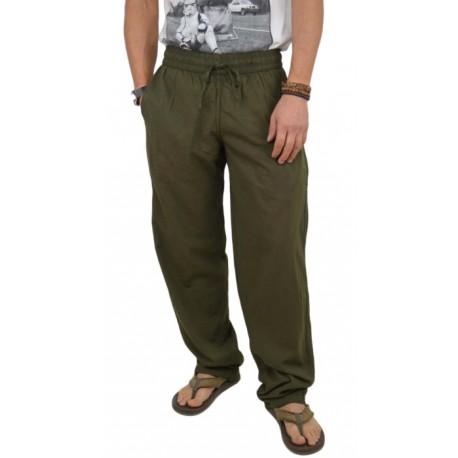 Pantalón largo kaki para verano
