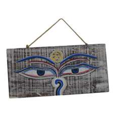 Placa de Madera Ojos de Buda