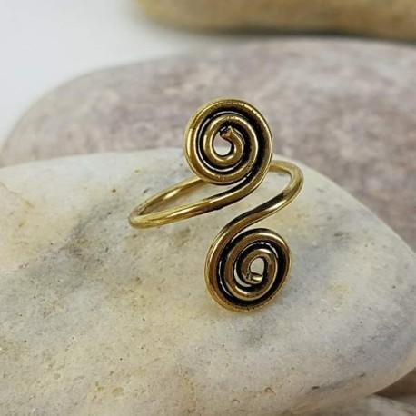 Anillos espirales para el pie color dorado