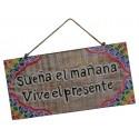 Placa de Madera decorativa sueña el mañana