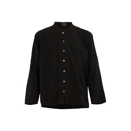 Camisa manga larga hombre cuello Mao