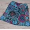 Falda corta para invierno con estampado de mandales azul