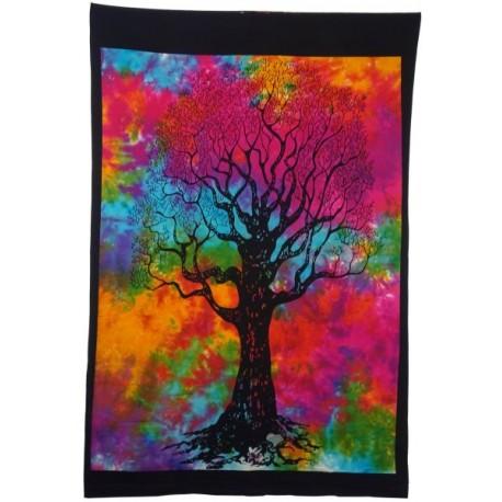 Tapiz Batick multicolor árbol de la vida