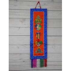 Adorno budista para la pared bordado