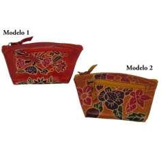 Monederos de piel repujado artesanal
