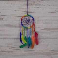 Atrapa sueños multicolor pequeño