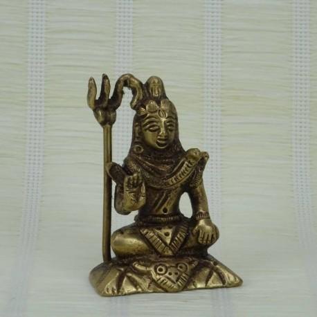 Figura de bronce de Shiva sentado