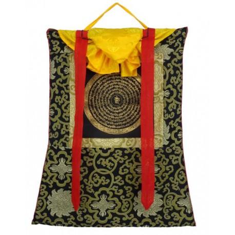 Thangka Budista con Brocado mandala