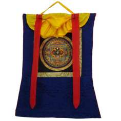 Thangka tibetano con Brocado