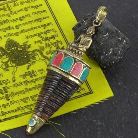Colgante Tibetano Caracola con buda