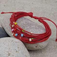 Pulseras hippies de colores