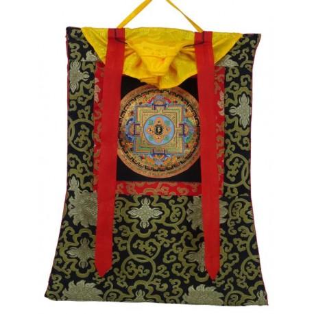 Thangka budista con mandala en Brocado TK26