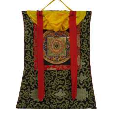 Thangka budista con Brocado TK28