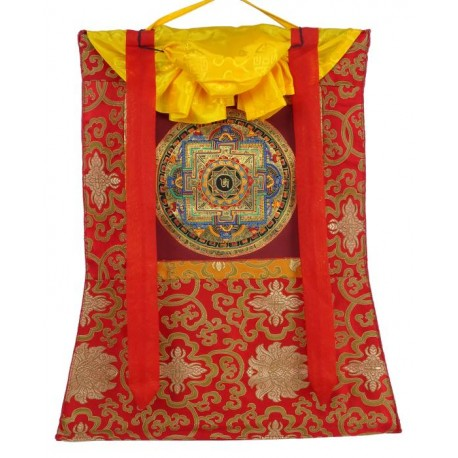 Thangka budista con Brocado TK20
