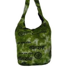 Bolso bandolera de tela estampado hindí