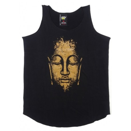 Camiseta sin mangas cara de Buda