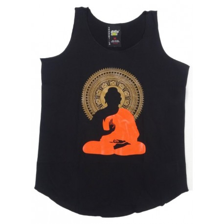 Camiseta sin mangas Buda sentado
