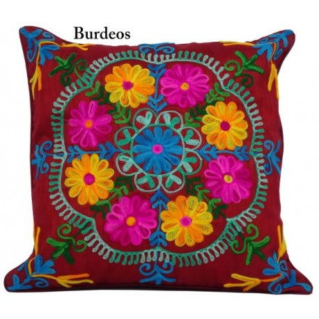 Cojines de tela flores mandala