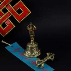 Campana tibetana de 11 cm + dorje