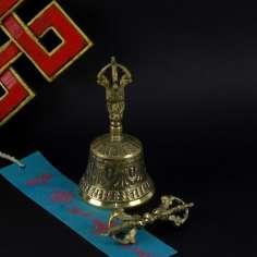Campana Tibetana 12,5 cm + Dorje