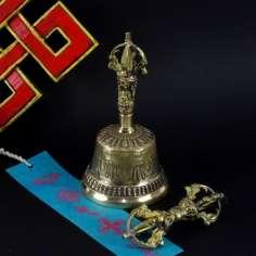 Campana Tibetana 15 cm + dorje