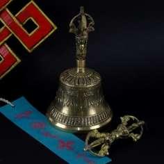 Campana Tibetana 16 cm + dorje