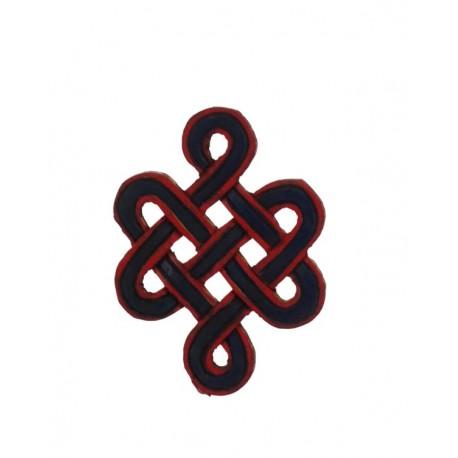 Nudo sin fin de madera 13 cm x 9,5 cm
