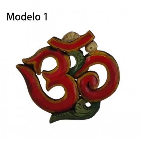 OM de Madera pintado de 11,5 cm x 11,5 cm