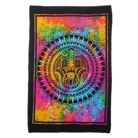 Tapiz mano de fátima multicolor 75 cm x 112 cm