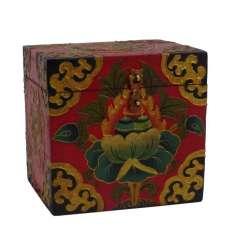 Caja de Madera Tibetana 15 x 12,5 x 14 cm