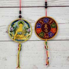 Colgante Amuleto ventana/coche Buda Shakyamuni