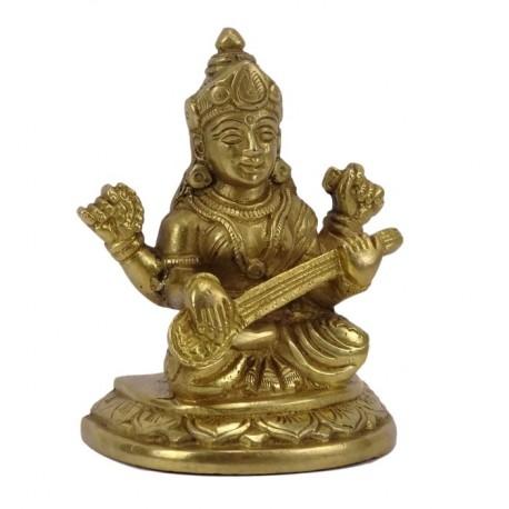 Figura Saraswati de bronce 10,5 cm