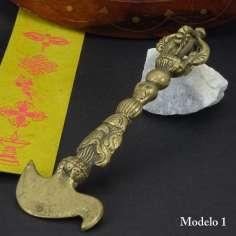 Dorje con hacha de bronce 15 cm