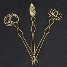 Pinchos para el pelo de metal dorados