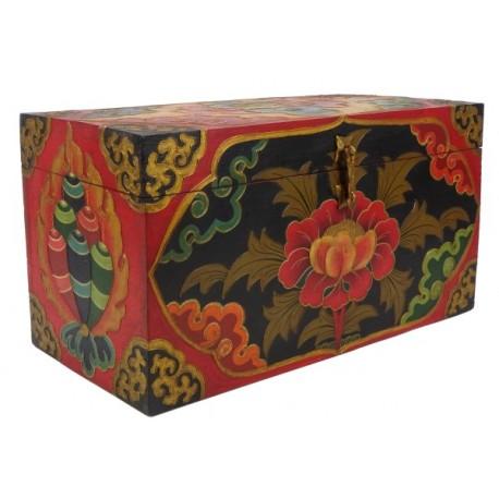 Caja de madera Tibetana 45 x 24 x 21,5 cm