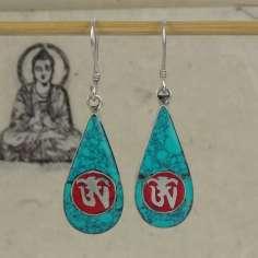 Pendientes Tibetanos ovalados