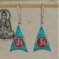 Pendientes Tibetanos con símbolos Budistas