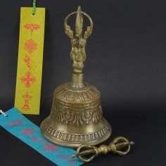 Campana Tibetana 20 cm + dorje