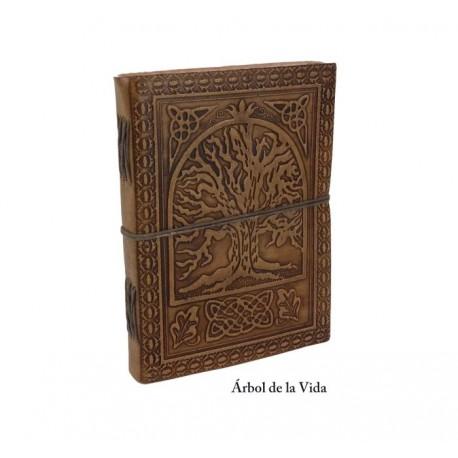 Libretas artesanales de cuero repujado 20 x 15 cm
